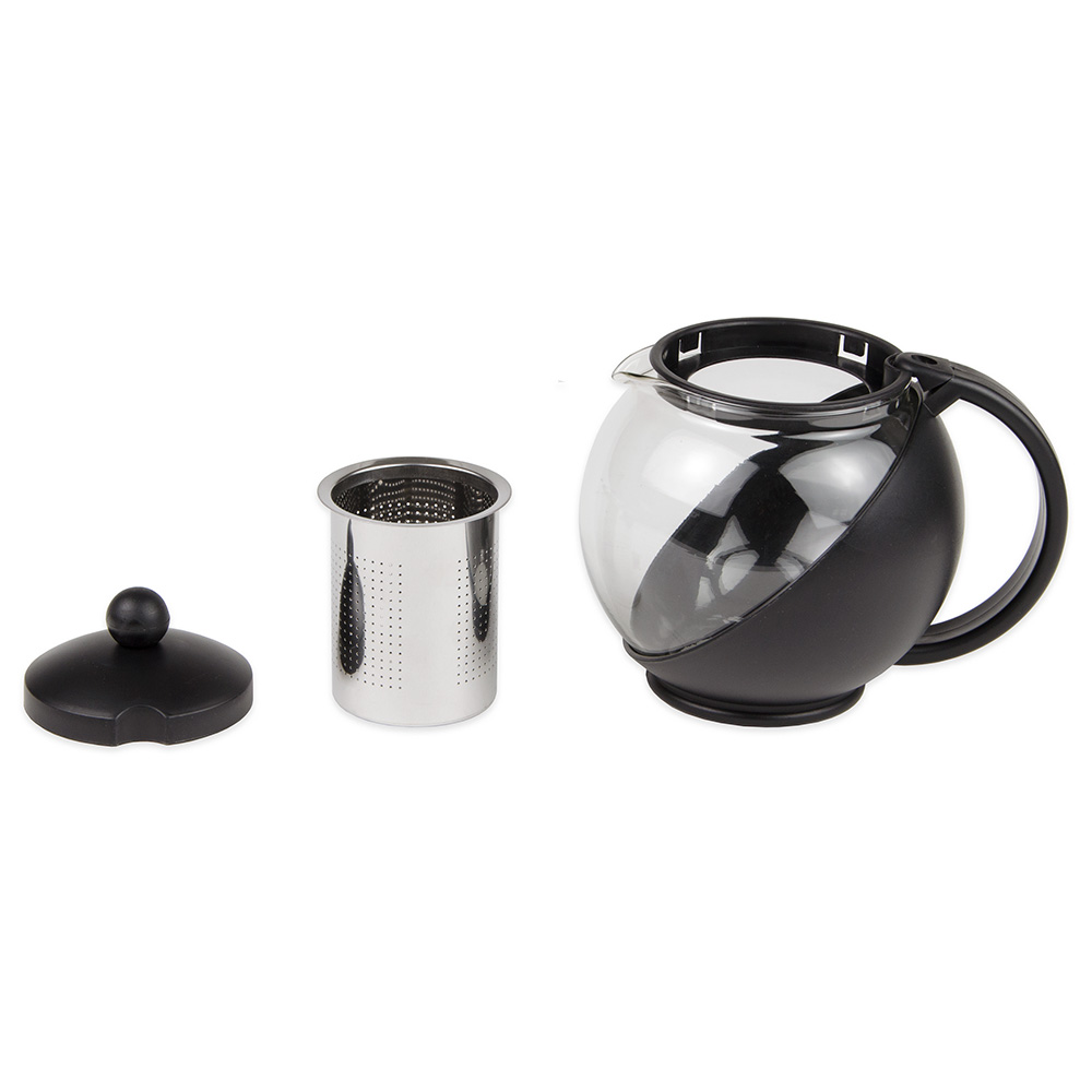 Update TPI-75 25-oz Teapot w/ Infuser - Glass/Plastic, Black