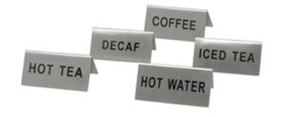 "Update International TS-DEC Decaf"" Tent Sign"