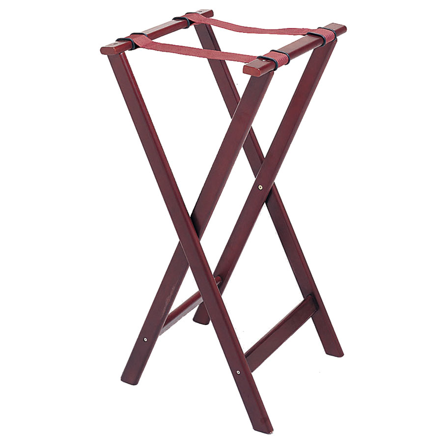 "Update TSW-32 32"" Folding Tray Stand - Cherry Wood Finish"