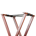 "Update TSW-38 38"" Folding Tray Stand - Cherry Wood Finish"