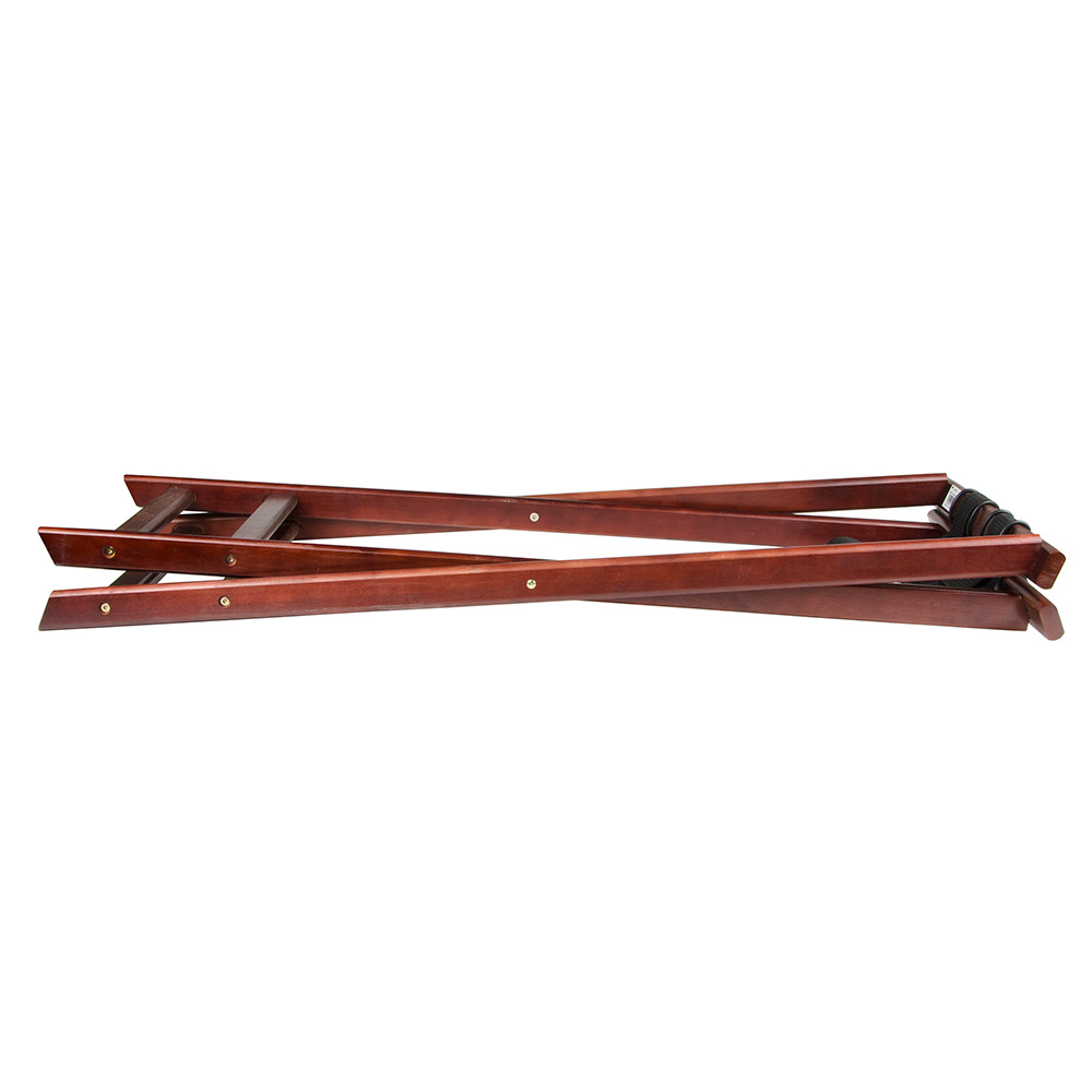 "Update TSW-38 38"" Folding Tray Stand - Cherry Wood Finish"