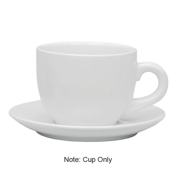 Update International TW-60 6-oz Ceramic Tiara Cappuccino Cup - White