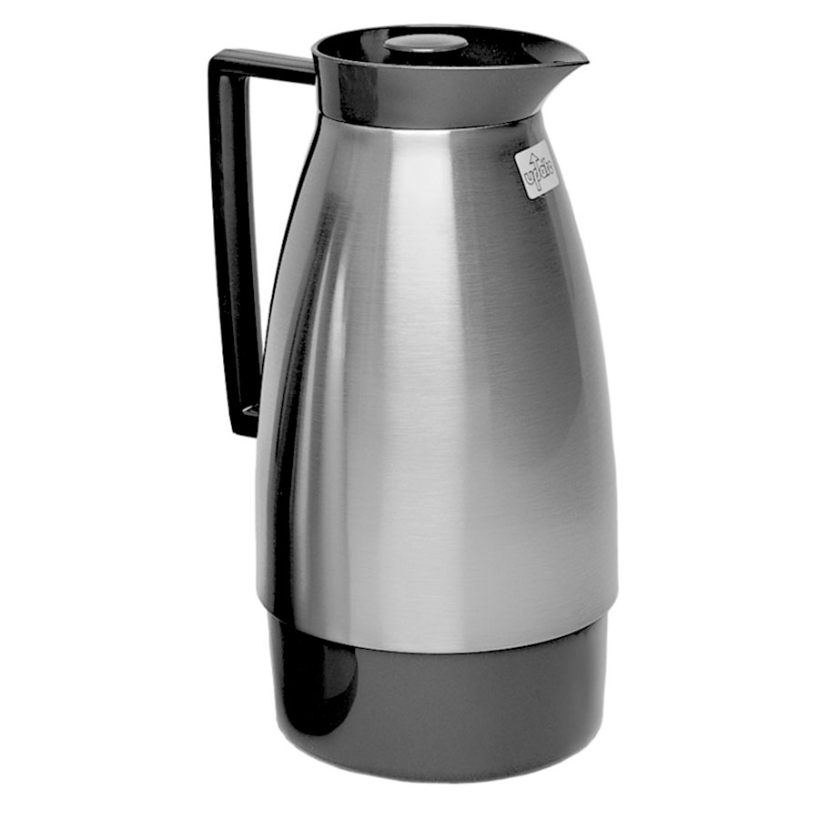 Update UD1000NT 1-Liter Server w/ Twist Top & Glass Lined, Black/Brush Nickel