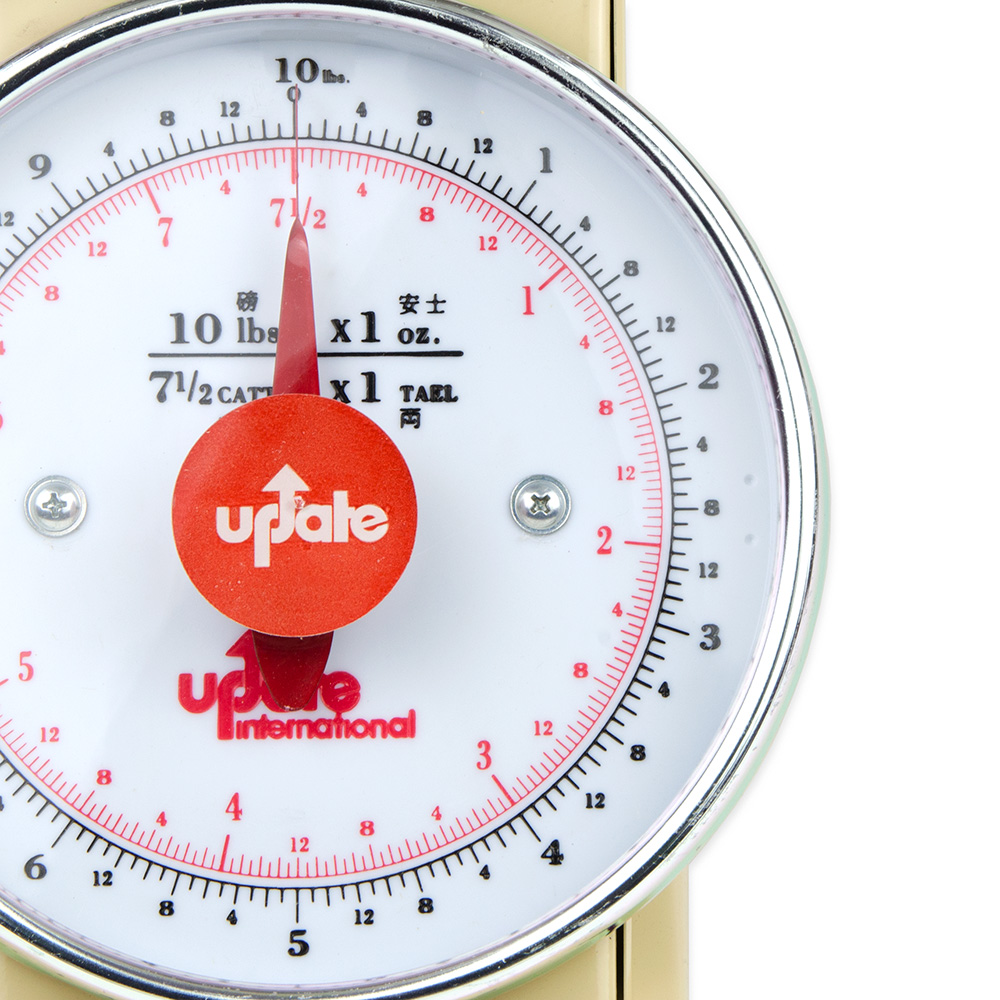 """Update UP-710T 7"""" Fixed Dial Scale - 10-lb Capacity, 1-oz Graduations"""