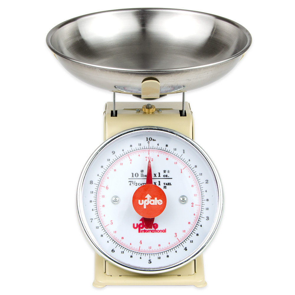 "Update UP-710T 7"" Fixed Dial Scale - 10-lb Capacity, 1-oz Graduations"