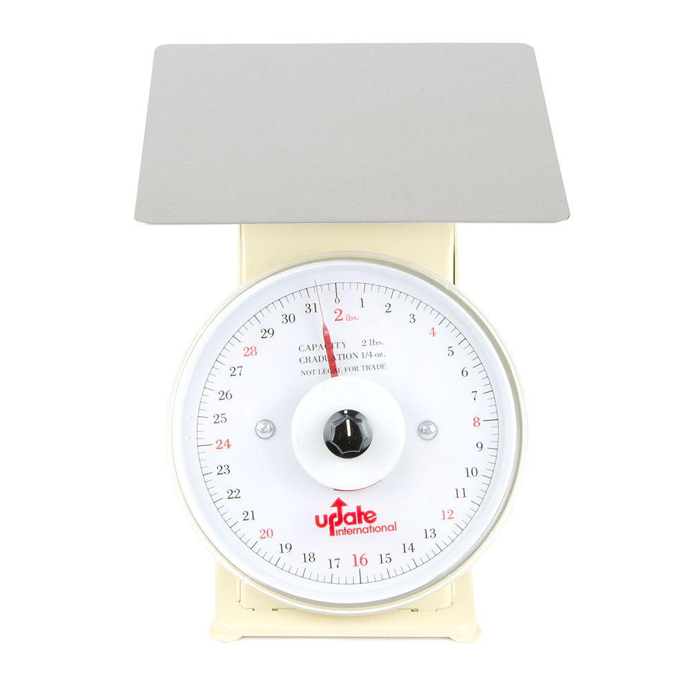 "Update International UP-72R 7"" Rotating Dial Scale - 2-lb Capacity, 1/4-oz Graduations"