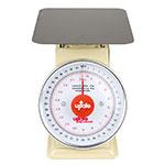 "Update International UP-840 8"" Fixed Dial Scale - 40-lb Capacity, 2-oz Graduations"