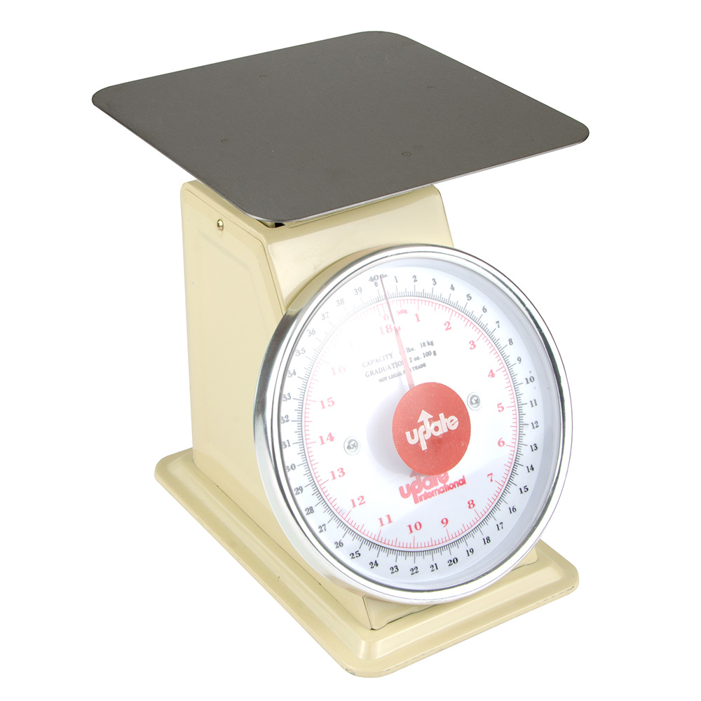 """Update UP-840 8"""" Fixed Dial Scale - 40-lb Capacity, 2-oz Graduations"""