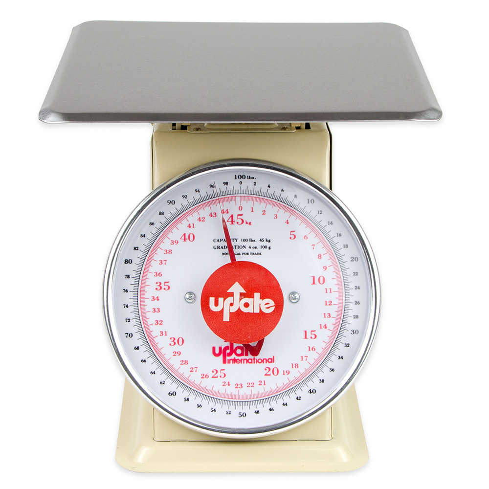 "Update International UP-9100 9"" Fixed Dial Scale - 100-lb Capacity, 4-oz Grad"