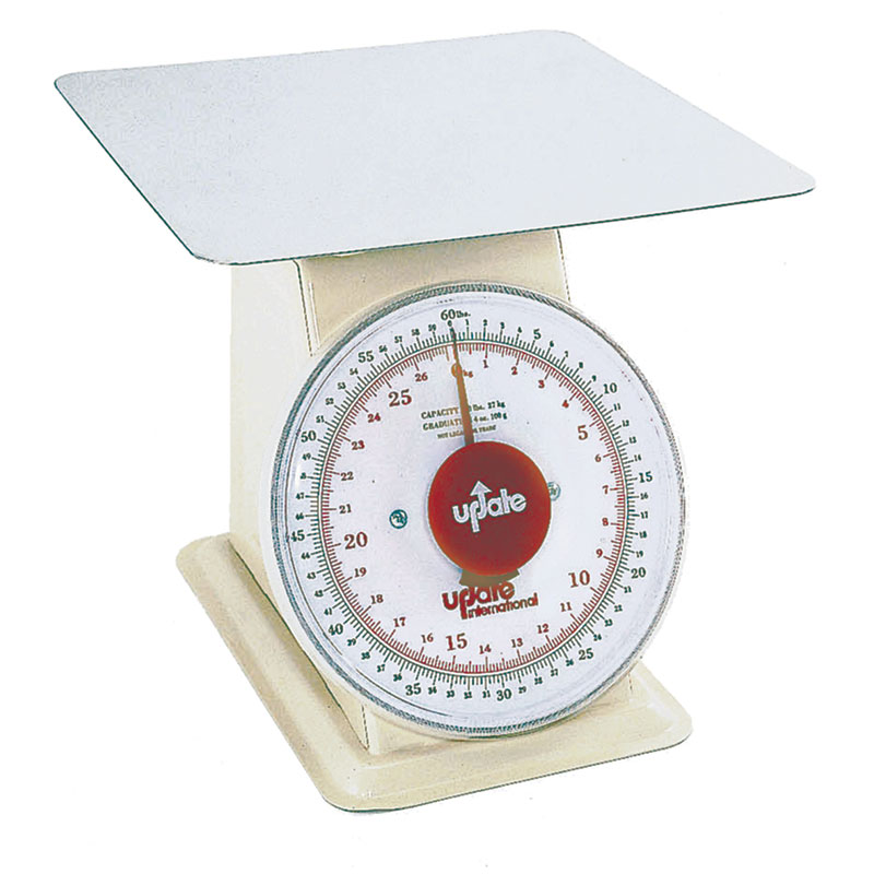"Update UP-960 9"" Fixed Dial Scale - 60-lb Capacity, 4-oz Graduations"