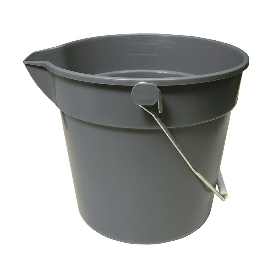 Update UPP-10 10-qt Utility Pail - Plastic, Gray