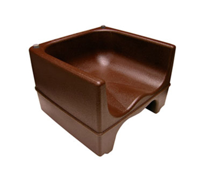 Update PP-BC/BR Dual Booster Chair - Contoured Seat, Polyethylene, Brown