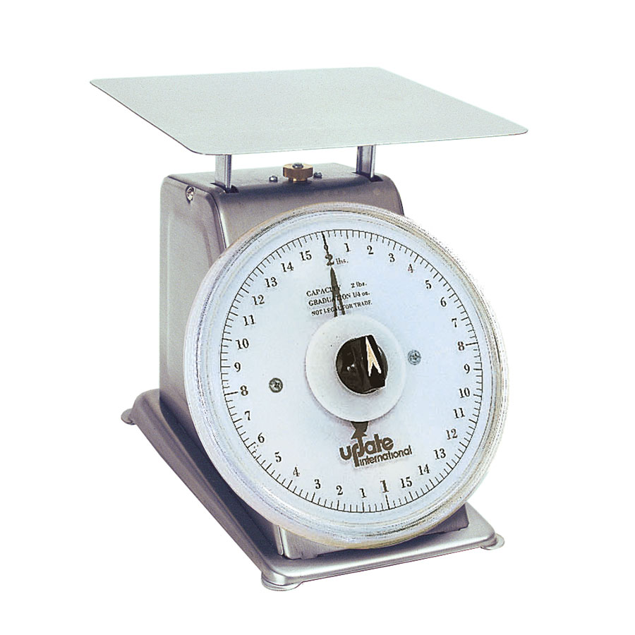 "Update UPS-72R 7"" Rotating Dial Scale - 2-lb Capacity, 1/4-oz Graduations, Stainless"