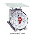 "Update UPS-75 7"" Fixed Dial Scale - 5-lb Capacity, 1/2-oz Graduations, Stainless"