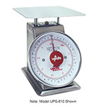 "Update UPS-840 8"" Fixed Dial Scale - 40-lb Capacity, 2-oz Graduations, Stainless"
