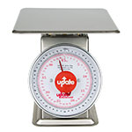 "Update UPS-9100 9"" Fixed Dial Scale - 100-lb Capacity, 4-oz Graduations, Stainless"