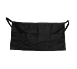 "Update International WAP-BK 4-Pocket Waist Apron - 23x12"" Poly/Cotton, Black"
