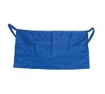 """Update International WAP-BL 4-Pocket Waist Apron - 23x12"""" Poly/Cotton, Blue"""