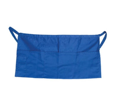 "Update International WAP-BL 4-Pocket Waist Apron - 23x12"" Poly/Cotton, Blue"
