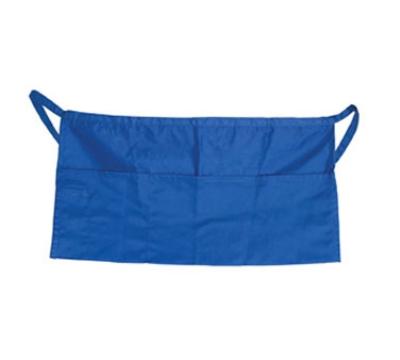 "Update WAP-BL 4-Pocket Waist Apron - 23x12"" Poly/Cotton, Blue"
