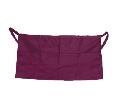 "Update International WAP-BU 4-Pocket Waist Apron - 23x12"" Poly/Cotton, Burgundy"