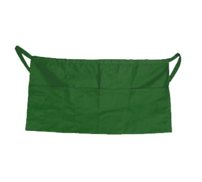 "Update International WAP-GR 4-Pocket Waist Apron - 23x12"" Poly/Cotton, Green"