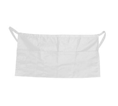 "Update International WAP-WH 4-Pocket Waist Apron - 23x12"" Poly/Cotton, White"