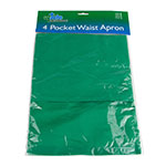 "Update WAP-GR 4-Pocket Waist Apron - 23x12"" Poly/Cotton, Green"