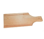 "Update International WBB-1205S 3/4"" Wood Bread Board with Knife Slot"