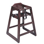 "Update WD-HCM 30"" Stackable High Chair w/ Waist Strap - Wood, Mahogany"