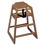 "Update WD-HCW 30"" Stackable High Chair w/ Waist Strap - Wood, Walnut"