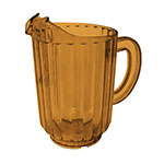 Update International WP-60SB 60-oz Water Pitcher - SAN Plastic, Amber