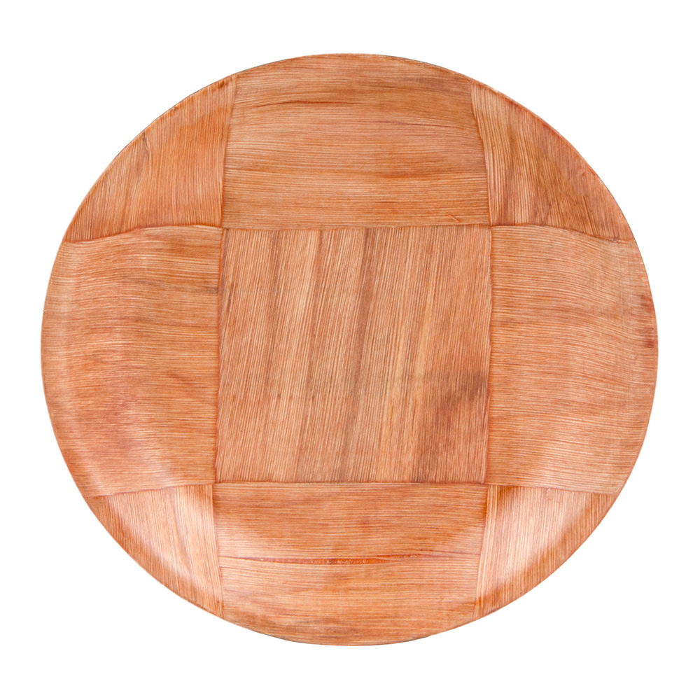 "Update WRP-6 6"" Woven Wood Salad Plate"