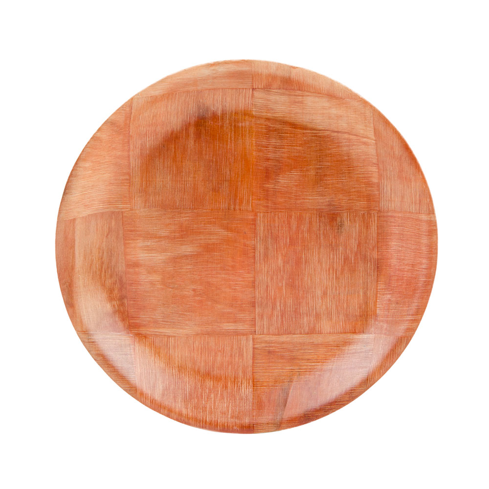 "Update WRP-8 8"" Woven Wood Salad Plate"