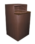 Update WRU-32 Waste Receptacle for 32-gal Can - Tray Top, Dark Walnut Finish