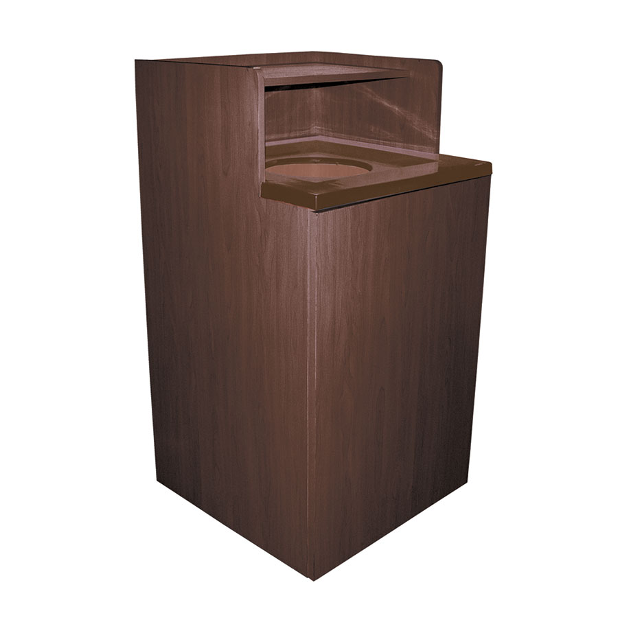 Update WRU-32 32-gal Indoor Decorative Trash Can - Wood, Walnut