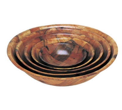"Update WSB-14 14"" Woven Wood Salad Bowl"