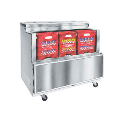 Norlake AR122SSS/0-A Milk Cooler w/ Top & Side Access - (1368) Half Pint Carton Capacity, 115v