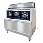 Norlake AR124SSS/0-A Milk Cooler w/ Top & Side Access - (768) Half Pint Carton Capacity, 115v