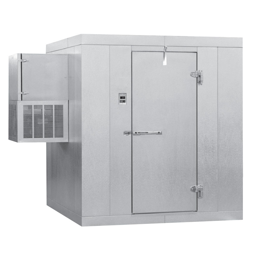 Norlake KLB45-W L Indoor Walk-In Refrigerator w/ Side Mount Compressor, 4' x 5'