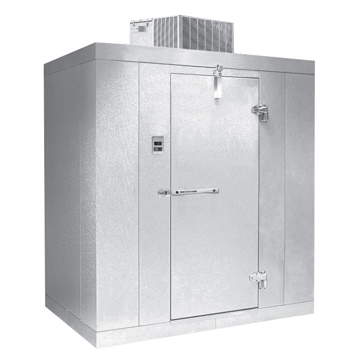 Norlake KLB7468-C L Indoor Walk-In Refrigerator w/ Top Mount Compressor, 6' x 8', No Floor