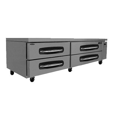 "Norlake NLCB83/84 84"" Chef Base w/ (4) Drawers - 115v"
