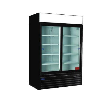 """Norlake NLGR48S-B 53.25"""" Two-Section Glass Door Merchandiser w/ Sliding Doors, 115v"""
