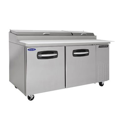 Nor-Lake NLPT67 67 Pizza Prep Table w/ Refrigerated Base,...