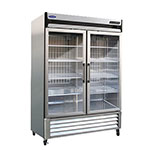 "Norlake NLR49-G 55.25"" Two Section Reach-In Refrigerator, (1) Glass Door, 115v"