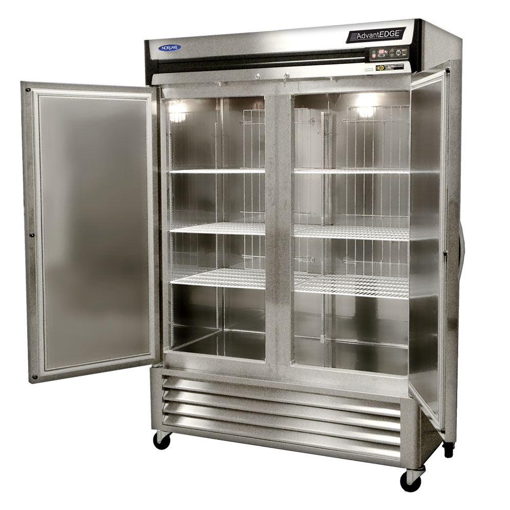 """Norlake NLR49-S 55.25"""" Two Section Reach-In Refrigerator, (2) Solid Doors, 115v"""