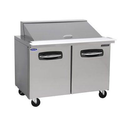 "Norlake NLSMP48-18 48.25"" Sandwich/Salad Prep Table w/ Refrigerated Base, 115v"