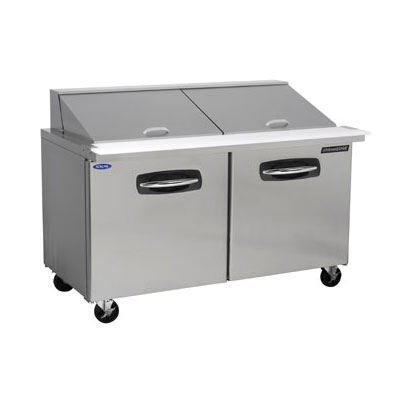 "Norlake NLSMP60-24 60.38"" Sandwich/Salad Prep Table w/ Refrigerated Base, 115v"