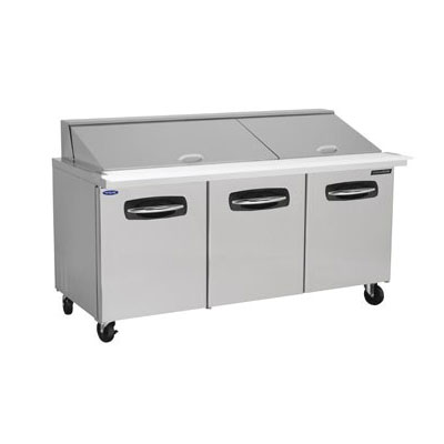 "Norlake NLSMP72-30 72.38"" Sandwich/Salad Prep Table w/ Refrigerated Base, 115v"