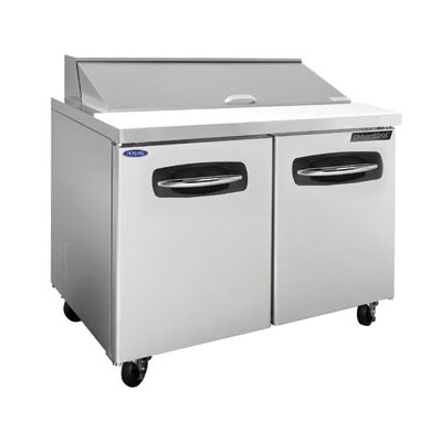 "Norlake NLSP48-12 48.25"" Sandwich/Salad Prep Table w/ Refrigerated Base, 115v"